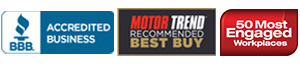 EasyCare is A+ rated.  Motor Trend Recommended Best Buy.  Most Engaged Workplace.